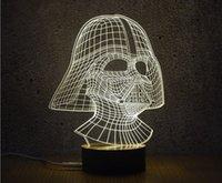 Lote mixto Lámpara de luz creativa 3D óptica 10 EDs Acrílico lámpara de decoración de panel LED 3D Lámpara AA Batería DC 5V Fábrica al por mayor
