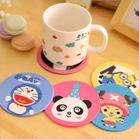 bar mats sale - Piece hot sale silicone antiskid cute animals dining table placemat coaster kitchen accessories mat cup bar mug drink pads