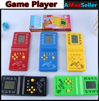 Wholesale Colorful Tetris Game Player Video Game Consoles Portable Handheld Game Players Educational Toys For Child Holiday Christmas gifts