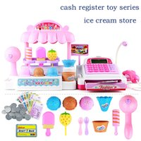 Wholesale new arrive Children s creative toy Mutifunction play house supermarket ice cream shop cash register toy juguetes pretend gift for girls