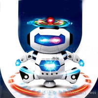 Wholesale DHL Electronic Walking Dancing Smart Space Robot Astronaut Kids Music Light Toys White color