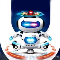 Wholesale Electronic Walking Dancing Smart Space Robot Astronaut Kids Music Light Toys White color Hot sale
