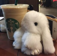 Wholesale The small rabbit rabbit dead rabbit hair pendant Meng Keychain fur plush car birthday gift bag ornaments