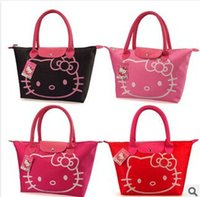Wholesale Hot sale New Arrival Hello Kitty Bag Shopping Bag Hand Bag Black PInk Red Rose pink yellow H00111