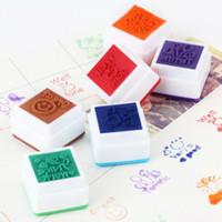 Wholesale 6pcs english Teachers Stampers Self Inking Praise Reward Stamps cute cartoon Mot