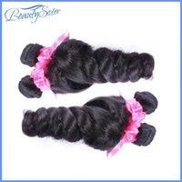 ans machine - Unprocessed Peruvian virgin hair loose wave bundles g a grade natural peruvian human hair weaves soft ans full bundles color black