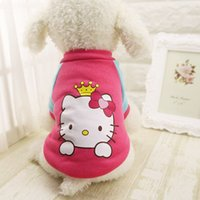 Wholesale Patterns Varied Lovely Well Behaved Fashion Clothes For Dog Pure Cotton Colorful Sweater Cartoon Pattern Clothes For Pet
