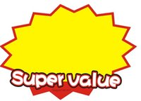 advertising values - Super Value paper card POP Explosive card promotional card size sign price label tag paperboard