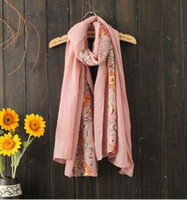 Wholesale 2016 new autumn and winter holiday folk style shawls embroidered linen sun Nepal style embroidery scarf