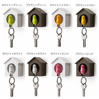 Wholesale bird Nest house Sparrow Key Ring Whistle Rings Keyholder Anti lost Key Seat Bird Key pendan D