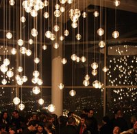 Wholesale Duplex staircase restaurant art BOCCI meteor shower LED living room bedroom bedside chandelier atmospheric personality