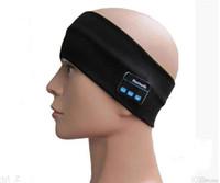 Wholesale Bluetooth music Towel Warm towel headband with bluetooth circuit and speaker for handfree listen music Fashion sports bandanas