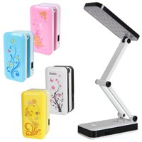 Wholesale AC90V V Foldable and Adjustable Built in Battery Desk Table Lamp with or LEDs On for Study Reading HOA_523