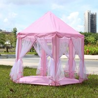 Cheap Wholesale-Portable Princess Castle Play Tent Children Activity Fairy House kids Funny Indoor Outdoor Playhouse Beach Tent Baby playing Toy
