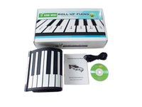 Wholesale 1pcs By Post E packet MD49 Black White Flexible Keys Professional MIDI Electronic Piano Keyboard Roll Up Piano for Children