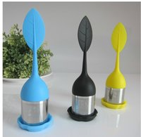 Wholesale Stainless Steel Tea Strainers Silicon Tea Infuser Leaf Silicone Tea Infuser with Food Grade Make Filter Creative Strainers Design
