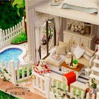 Wholesale Model toys diy house large romantic Paris model villa assembled gift