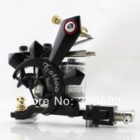achat en gros de approvisionnement en zinc-Wholesale-One 10 Wrap Coils Zinc Alloy Tattoo Machine Gun pour Kit Set Supply GAM45