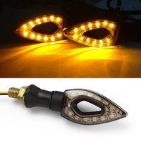 Wholesale Motorcycle LED Turn Signal Indicators Amber Blinker Light Universal V Motorbike Lamp Super Bright Easy to Install