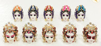 Wholesale Characteristic Chinese Style Chinoiserie Peking Opera Fcial makeup new fashion Chinese style unique adjustable ladies men ring