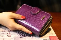 amazon credit card - Foreign trade leather patent leather wallet short female buckle iron ladies purse Amazon sold speed pass clip