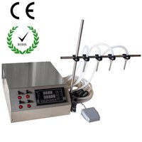 Wholesale New gear pump liquid filling machine oil filling machine with ml min oil filler perfume filler with nozzles