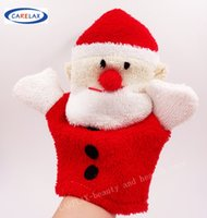 better towels - Christmas Santa Bath Gloves Blister towel Better Bodies Pure cotton For Children Toy Without Stimulation