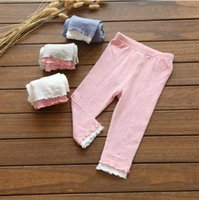 Wholesale Soft and comfortable summer children s clothing trade children nine cotton pants trousers nine hit color trousers