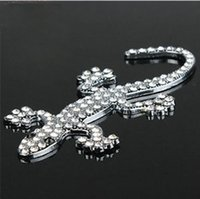 aluminum metal roofing - 3D Metal Car Sticker Emblem Badge Decal Auto Decoration Sticker personality Metal auger Diamond crystal gecko car stickers