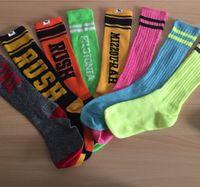 Wholesale Love Girls VS Pink Socks Victoria Knee High Socks Sports Football Cheerleaders Stockings Fashion VS Stockings Cotton Pink Brand Leg Warmers