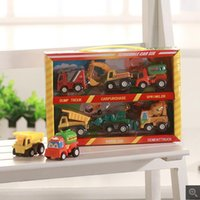 Wholesale The new six cartoon mini pull back car game back to power carts children s toys explosion models hot selling factory direct