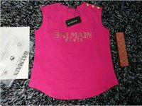 Wholesale New High quality brand jeans balmain paris women s tshirts elastic cotton o neck short men s t shirts plus size