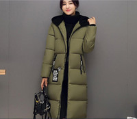 balls natural hair - Korean version of the winter fashion ladies thicker long paragraph color hair ball hooded cotton down coat