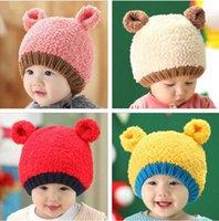 bears photography - 1 Baby hat Boy Girl Infant Toddler Cute Soft Crochet Bear Hat Warm Newborn Cap Baby Photography prop Crochet baby Hat