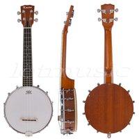 banjo uke - Kmise String Banjo Ukulele Uke Ukelele Banjolele Concert Inch Size Sapele Wood