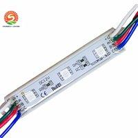 DIY 3 Leds SMD 5050 llevó los módulos impermeabilizan 12V RGB llevó los módulos del pixel Luz WW PW CW R G B Para las letras del canal