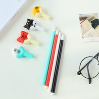 Wholesale pieces Cartoon Shape Doughnut Gel Ink Pen Promotional Gift Stationery School Office Writing Pens School Office Supply