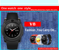 android photo - 2016 New smartwatch v8 Bluetooth Smart watch for Apple iPhone Samsung Android Phone measurement steps remote take photos DHL