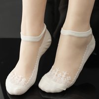 anti skid material - New arrive Lace SocksCrystal Silk Material Anti skidding and Sexy Spring Summer Color Choosing High Quality Women s Socks