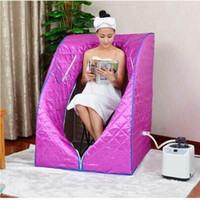 Wholesale Portable L Home Steam Sauna Spa Full Body Slimming Loss Weight Detox Therapy