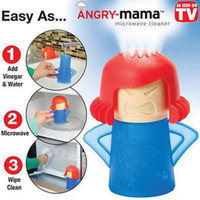 Wholesale Angry Mama Microwave Oven Steam Cleaner With Vinegar and Water Easy Cleans Household Kitchen Cleaning Tools