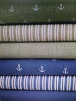 Wholesale New Cotton cloth Fabric Table cloth Sea style fabric Anchor series Garment fabric DIY manual