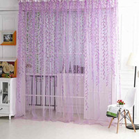 Wholesale M M Room Willow Pattern Voile Window Curtain Sheer Panel Drapes Scarfs Curtain Purple