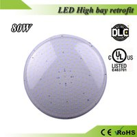 Wholesale 5 years warranty UL DLC listed mogul base LED pizza high bay light W with clear cover for warehouse factory supermarket lighting