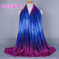 Scarf artistic scarves - artistic sense scarf women color bright color stitching women scarf long shawl and scarves voile hijab