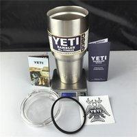 Wholesale Free DHL Yeti Cups YETI oz oz oz Rambler Tumbler Travel Vehicle Beer Mug Double Wall Bilayer Vacuum Insulated Stainless Steel