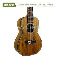acoustic guitar free music - quot solid KOA top concert Ukulele Acoustic Guitar Hawaii guitar Music instrument uke handcraft guitarra ukelele