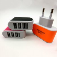 Wholesale Universal Ports European USB Power Adapter EU Plug Home Wall Charger Black