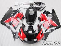 Carenados negros rojos para Honda CBR600 F2 1991-1994 1992 1993 CBR 600 F2 91-94 CBR600 F2 91 92 93 94 # v28w6 envío gratis
