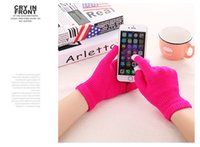 Wholesale cheap Christmas super capacitive touch glove Cotton screen conductive gloves for android iphone S plus S6 ipad glove